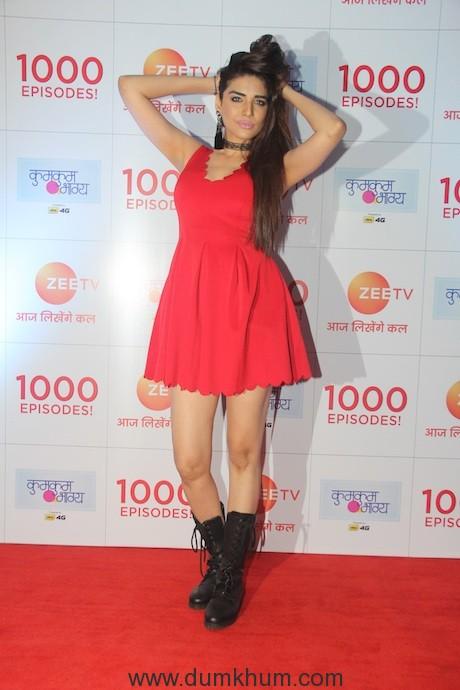 Anjum Fakih at Zee TV's 1000 epsiode celebration bash of KumKum Bhagya