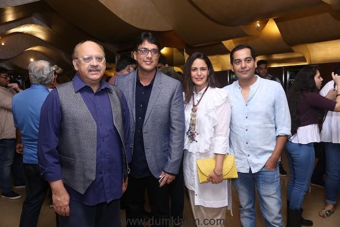 (L-R) Akash Khurana, Sameer Saxena, Mona Singh and Gaurav Gera at TVF's...