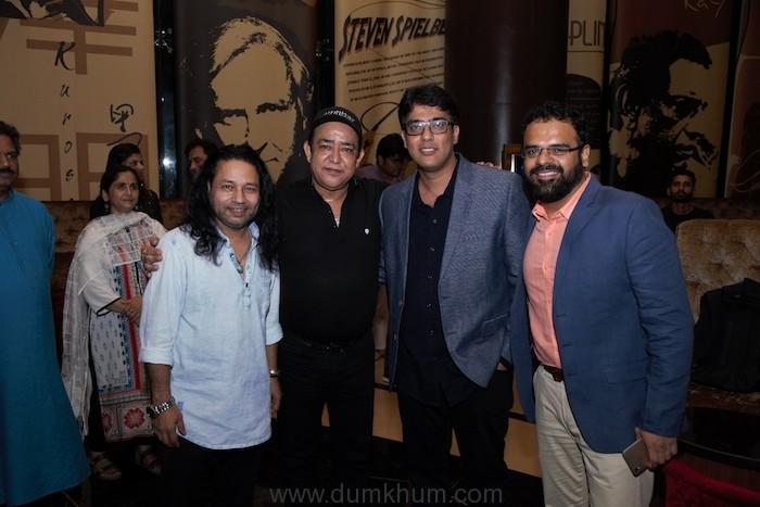 (L-R) Kailash Kher, Guest, Sameer Saxena, Saurabh Khanna