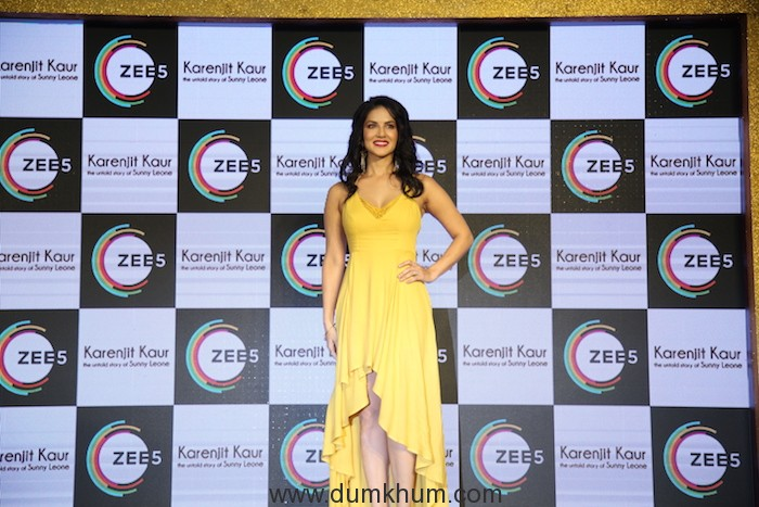 Sunny Leone at the press conference of her auto biopic Karenjit Kaur- the untold story of Sunny Leone