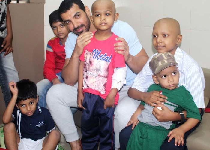 John Abraham visited Bai Jerbai Wadia Hospital and celebrated Independence day