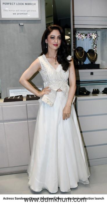Actress Sandeepa Dhar at Caratlane's Noor-e-Kashmir collection launch_01