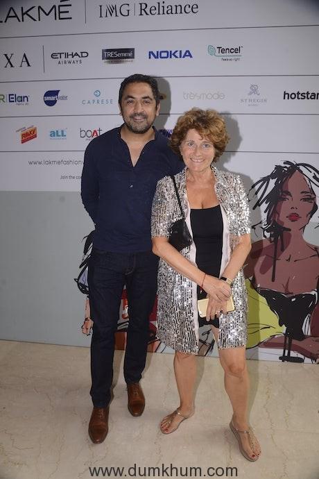 Amrish Kumar and Sylvie Giacobbi from Label Ritu Kumar at Lakme Fashion Week
