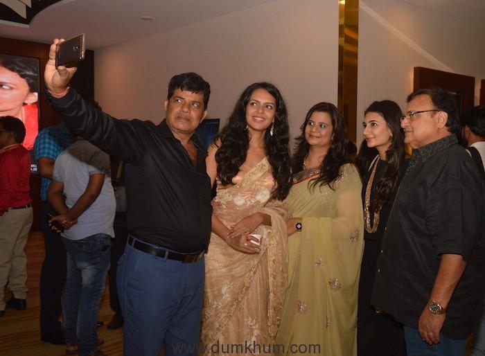Director Manoj Singh Taking selfie with the actors