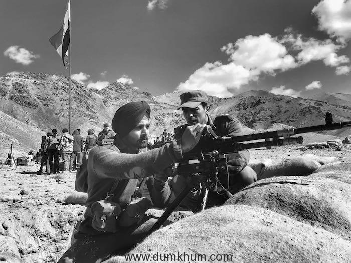 Harshvardhan Rane bonds with Arjun Rampal over guns on the sets of J P Dutta's PALTAN!