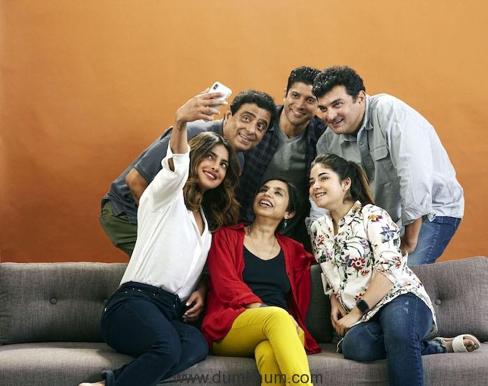 Priyanka, Farhan and Zaira begin filming for Ronnie and Sid's next