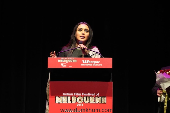 Rani Mukerji Wins the Best Actress Award for Hichki and the 'Excellence in Cinema' Award at Indian Film Festival of Melbourne-2