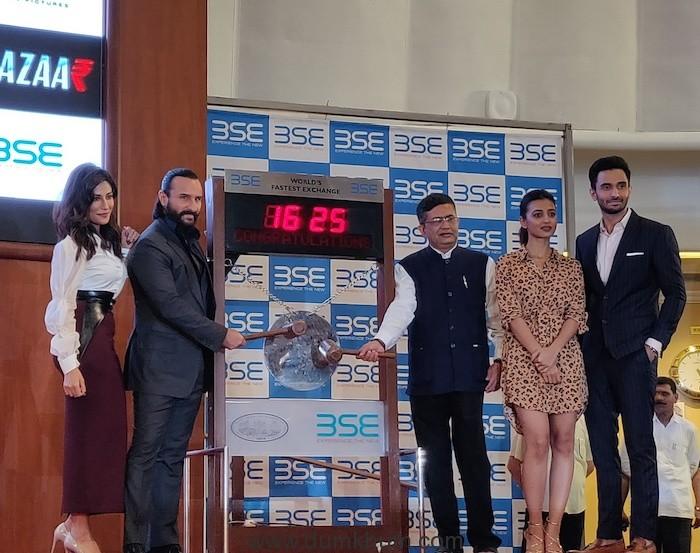 Baazaar trailer unveiled at Bombay Stock Exchange