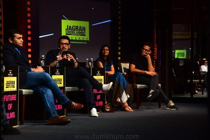 Devang Sampat, Dinesh Vijan, Nandita Das and Vikramaditya Motwane at Jagran Cinema Summit