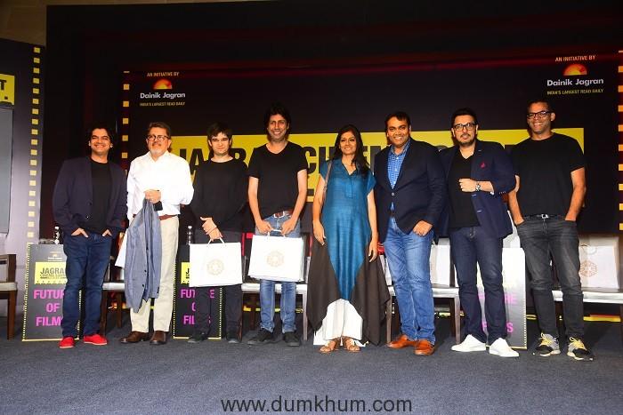 Mayank Shekhar, Vijay Singh, Vivaan Shah, Tanveer Bookwala, Nandita Das, Devang Sampat, Dinesh Vijan and Vikramaditya Motwane at the Jagran Cinema Summit
