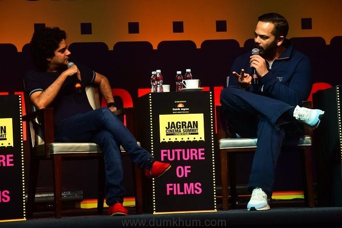Mayank Shekhar in conversation with Rohit Shetty, at the Jagran Cinema Summit (2)