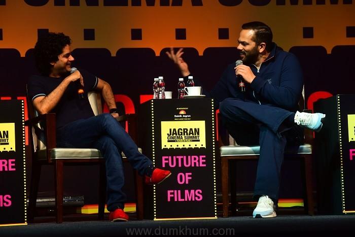 Mayank Shekhar in conversation with Rohit Shetty, at the Jagran Cinema Summit (4)