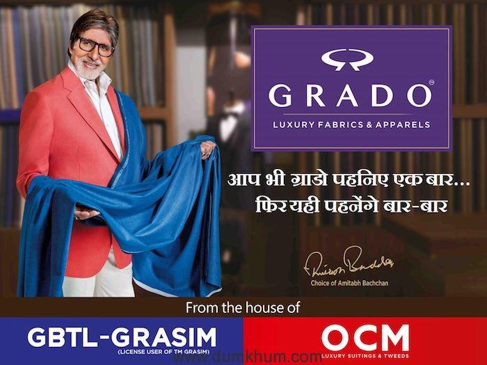 Mr. Amitabh Bachchan as the Brand Ambassador of the Power Brand –GRADO