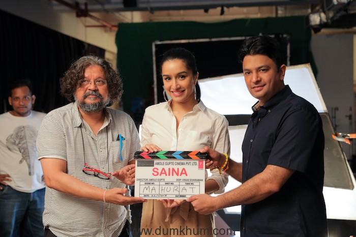 Shraddha Kapoor as Saina Nehwal, director by Amole Gupte & Bhushan Kumar-