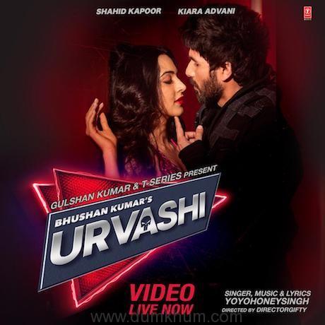 Shahid Kapoor and Kiara Advani shoots up the hotness with their mega single #Urvashi.
