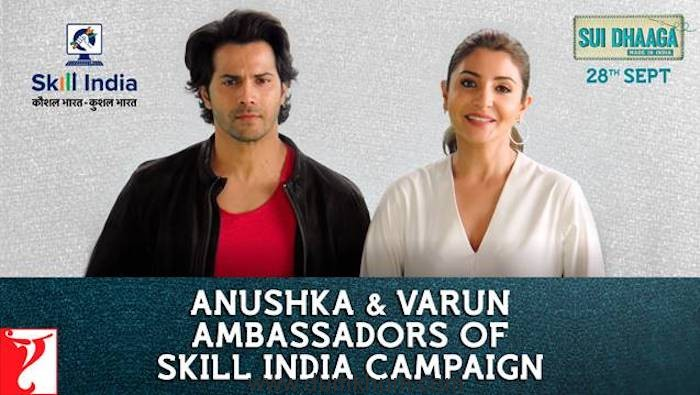 Varun-Anushka signed as ambassadors of Skill India Campaign!