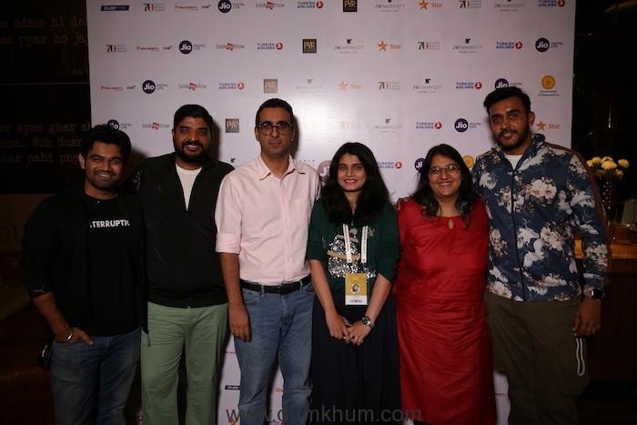 Actor Sahil Vaid, Jiten Singh, Rahul Puri, Aarti Kudav, Aditi Singh and Filmmaker Shashank Khaitan at Jio MAMI 20th Mumbai Film Festival with Star