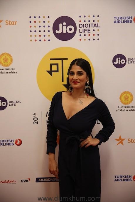 Actress Saloni Batra at Soni red carpet at Jio MAMI 20th Mumbai Film Festival with Star