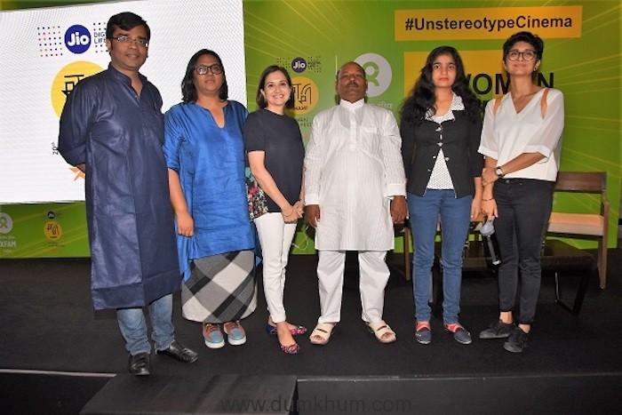 Amitabh Behar - CEO of Oxfam India, Smriti Kiran, Anupama Chopra, Naaz Parveen with father and Kiran Rao