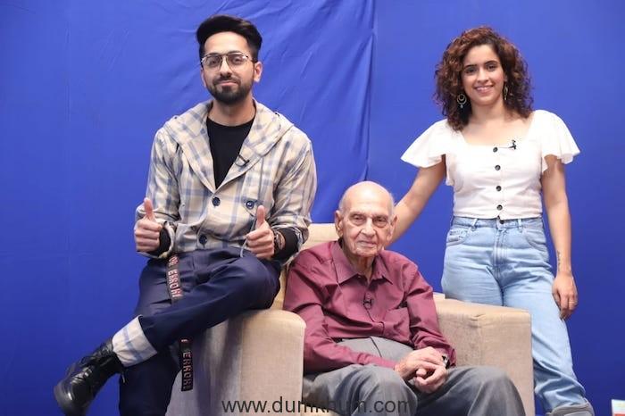 Ayushmann Khurrana & Sanya Malhotra meet renowned sexpert Dr. Mahendra Watsa!