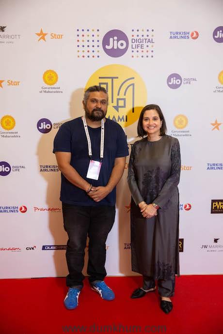 Director - Vasan Bala with Festival Director - Anupama Chopra at the Jio Mami 20th Mumbai Film Festival with Star