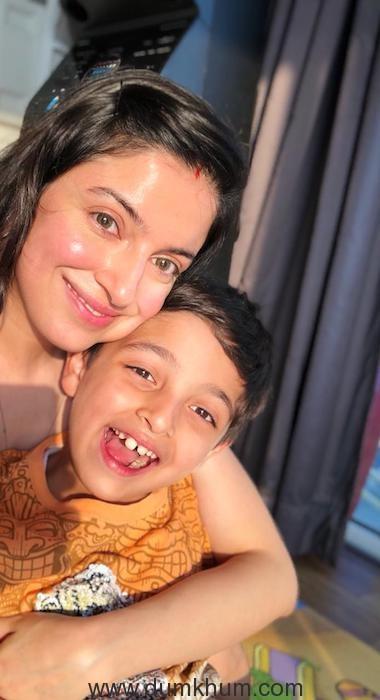 Divya Khosla Kumar with son Ruhaan on his 7th birthday -