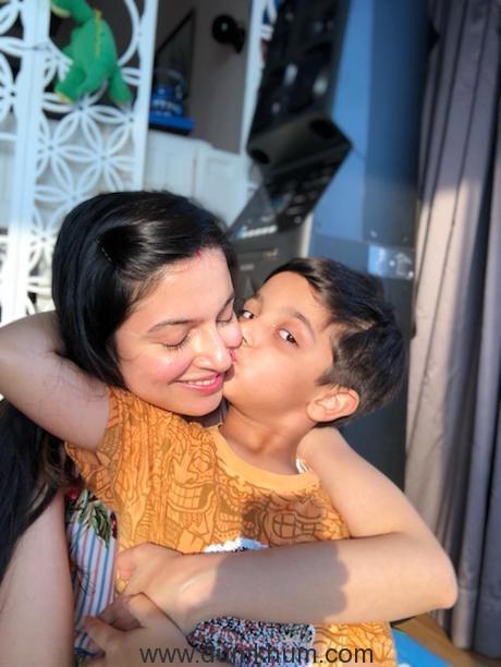 Divya Khosla Kumar with son Ruhaan on his 7th birthday 2
