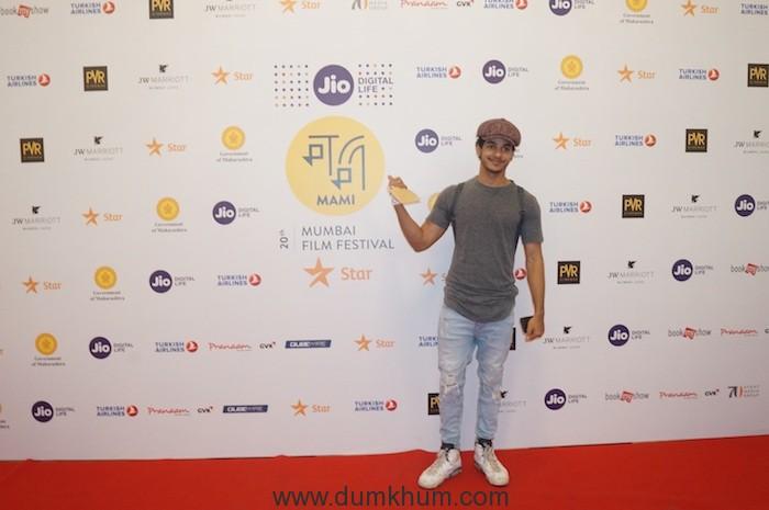 Ishan Khattar at Jio MAMI 20th Mumbai Film Festival with Star