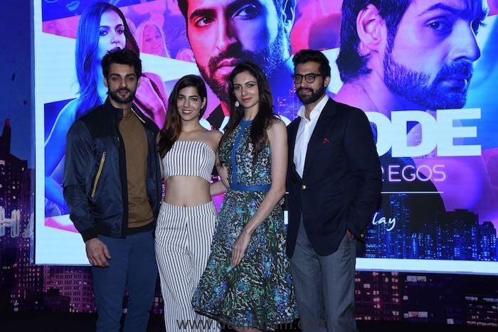 Karan Wahi, Parina Chopra, Simran Kaur Mundi, Akshay Oberoi at the launch of Hungama original - Bar Code 01