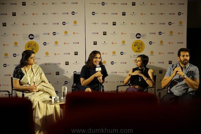 (LtoR) Actress - Renuka Shahane, Moderator - Ruchi Narain, Actress – Shonali Bhose and Filmmaker - Kabir Khan