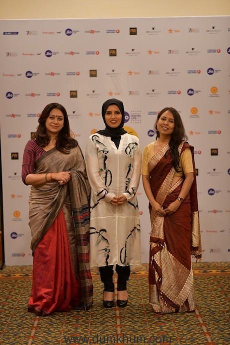 Oxfam India Jury (L-R) Director Anjali Menon, CEO Doha Institute Fatma Al Remaihi, Director Rima Das
