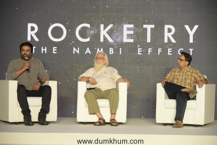 R Madhavan, Ananth Mahadevan & Nambi Narayanan launch the teaser of 'Rocketry - The Nambi Effect'!
