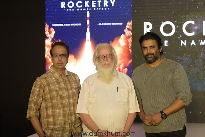 R Madhavan, Ananth Mahadevan & Nambi Narayanan launch the teaser of 'Rocketry - The Nambi Effect'! -