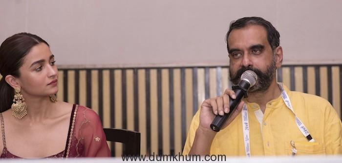 Alia Bhatt along with director Sanjoy Nag,