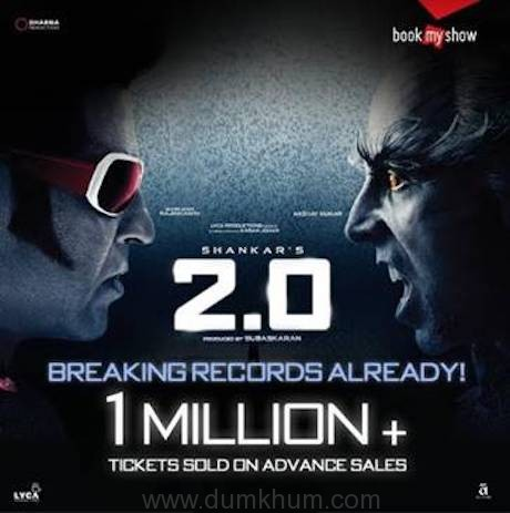 BookMyShow clocks 1 Million advance ticket sales for 2.0