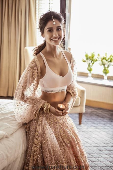 Disha Patani's festive fusion look in Calvin Klein Underwear!