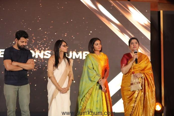 Jury for Dimensions Mumbai - Filmmakers Bijoy Nambiar, Shirley Abraham, actors Parvathy Thiruvothu and Renuka Shahane at Jio MAMI 20th Mumbai Film with Star.JPG