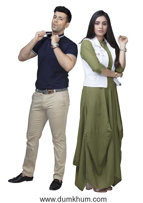 Karanvir Sharma as Arjun Kutty & Manisha Rawat as Rumi Saklecha in Sony SAB's Mangalam Dangalam