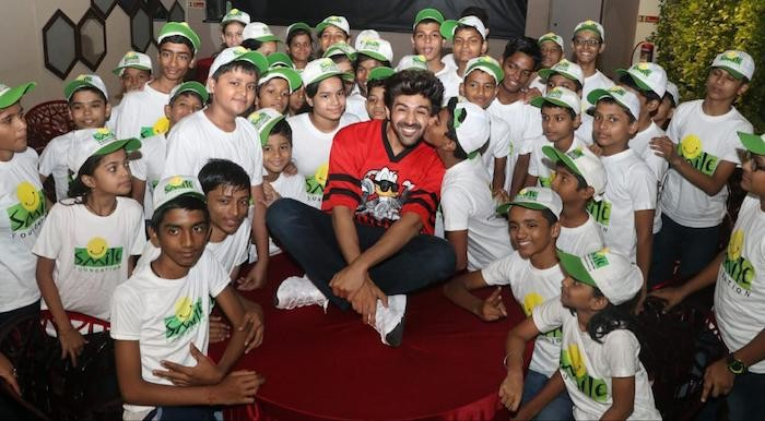 Kartik Aaryan celebrates children's day with the kids at Smile Foundation!
