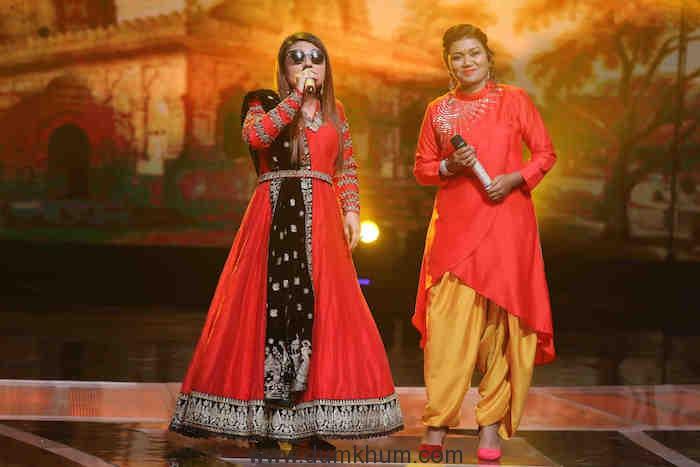 Mandakini performing on Sa Re Ga Ma Pa (2)