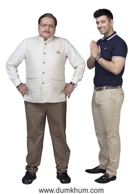 Manoj Joshi as Sanjeev Saklecha & Karanvir Sharma as Arjun Kutty in Sony SAB's Mangalam Dangalam