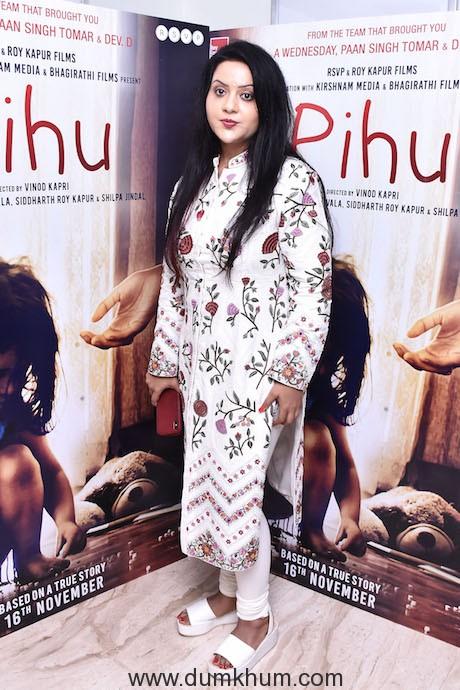Mrs Amruta Fadnavis - Film Pihu Screening 02 (1)