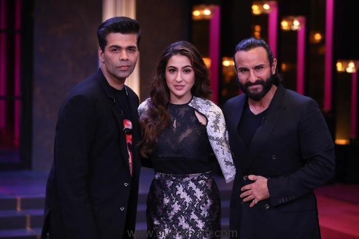 Saif and Sara Ali Khan's fun banter with Karan Johar !