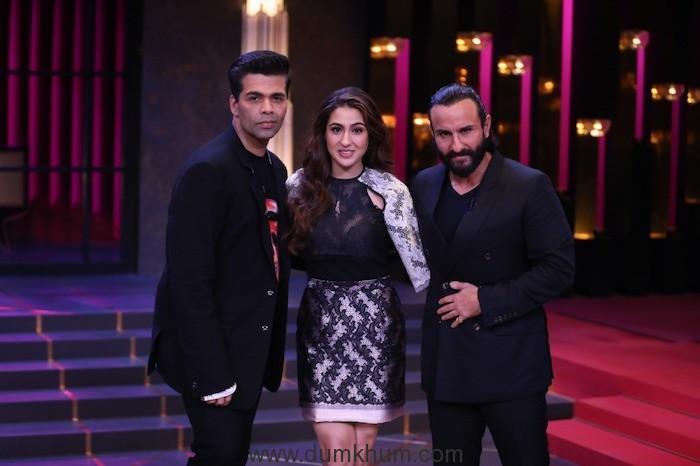 Saif and Sara Ali Khan's fun banter with Karan Johar