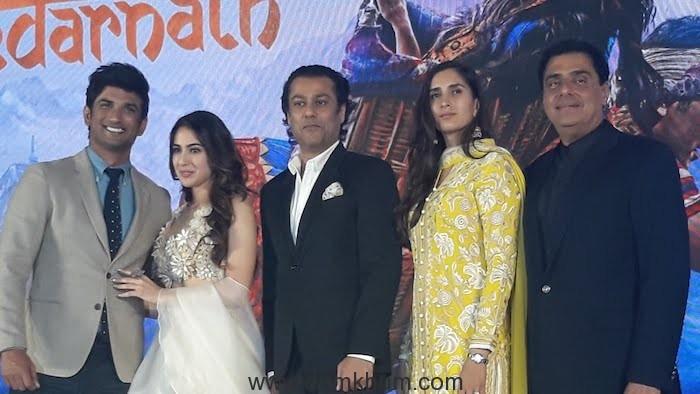 Sara Ali Khan & Sushant Singh Rajput at the Trailer Launch of Kedarnath