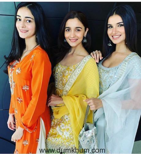 Students at Karan Johar's Diwali Puja
