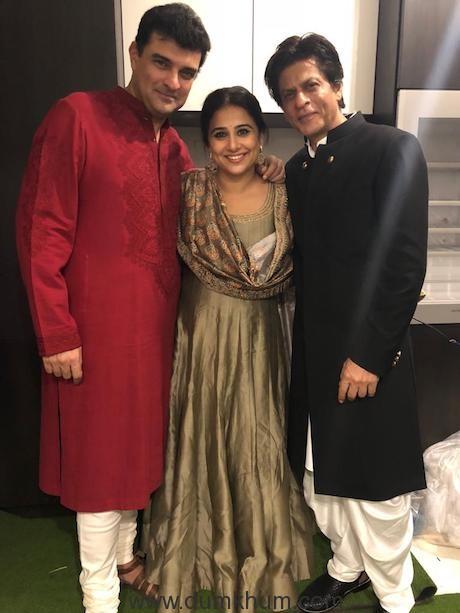 Vidya Balan and Kiara Advani at SRK's Diwali Bash !