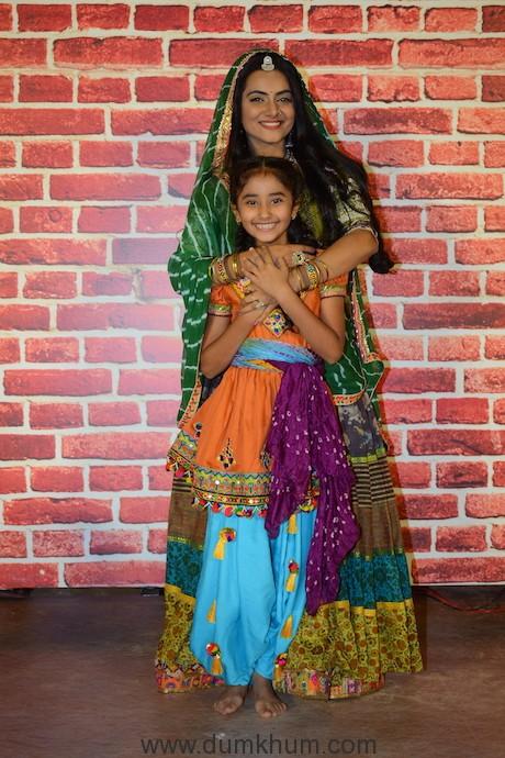 Aastha Chaudhary and Chahat Tiwani at COLORS' Kesari Nandan launch