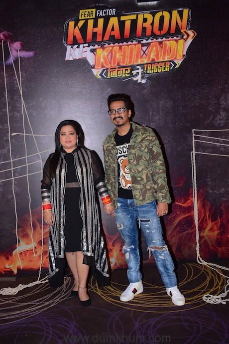 Bharti Singh and Harsh Limbachiyaa at the launch of COLORS'Khatron Ke Khiladi season 99969