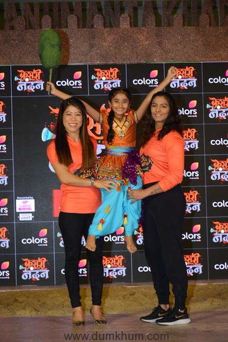 Geeta Phogat, Chahat Tewani and Mary Kom